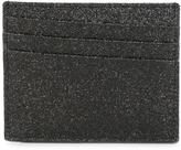 Maison Margiela glitter cardholder - men - Cotton/Calf Leather/Polyester/Polyurethane - One Size