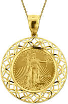 JCPenney FINE JEWELRY 14K Yellow Gold 1/10 oz. Liberty Dollar Coin Pendant Necklace