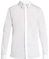 Givenchy Contemporary-fit collar stays single-cuff shirt