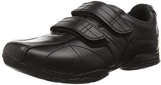 Toughees Shoes Boys' Hoddle Double Velcro Comfort Insole, Black (Black), 34 EU