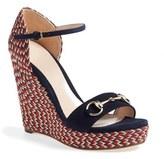 Gucci Women's 'Carolina' Espadrille Wedge Sandal