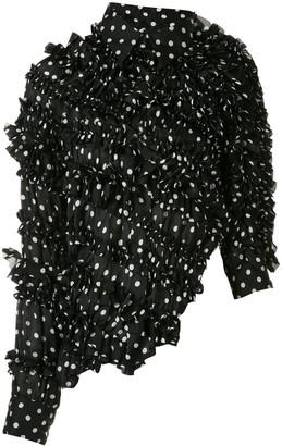 Comme Des Garçons Pre Owned Asymmetric Ruffled Jacket