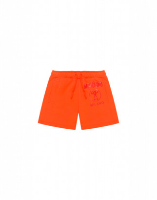 Moschino Double Question Mark Shorts Man Orange Size 4a It - (4y Us)