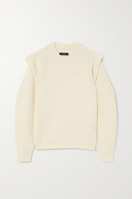 Isabel Marant Bolton Ribbed Cashmere And Wool-blend Sweater - Ecru