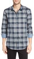 John Varvatos Men's Slim Fit Plaid Sport Shirt