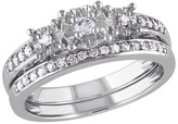 Allura 1/4 CT. T.W. Diamond Bridal Ring Set in 10K White Gold (GH I1-I2)