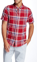 Jachs Plaid Short Sleeve Classic Fit Shirt