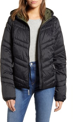 Andrew Marc Hooded Packable Jacket