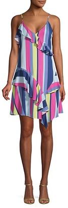 Parker Ruffle-Trimmed Mini Dress