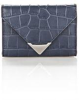 Alexander Wang Prisma Envelope Compact In Matte Embossed Croc Stone