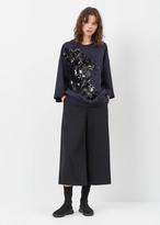 Dries Van Noten navy holtan embellished sweatshirt