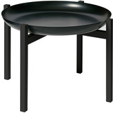 Design House Stockholm Tablo Black Tray Table - Black Lacquared Teak Small Stand