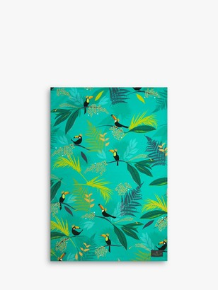 Sara Miller Toucan Tea Towel, Green/Multi