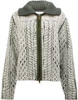 Maison Margiela printed knit jacket - women - Wool - XS
