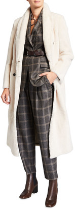 Brunello Cucinelli Shearling Double-Breasted Coat
