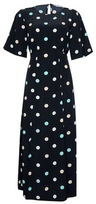 Dorothy Perkins Womens **Dp Tall Blue Spot Print Midi Dress, Blue