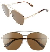 Givenchy Women's 65Mm Round Aviator Sunglasses - Gold