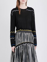 Peter Pilotto Wave-detailed knitted jumper