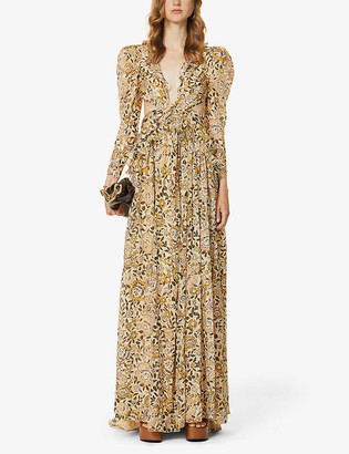 Etro Open-back floral-print silk-blend gown