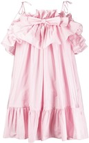 MSGM ruffle-trimmed flared dress