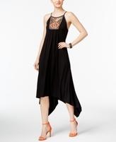 INC International Concepts Petite Embellished Handkerchief-Hem Dress, Created for Macy's