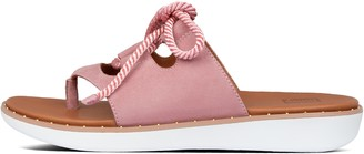 FitFlop Felicity Lace-Up Suede Toe-Post Sandals