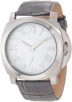 A Line a_line Women's 80007-014-GR Pyar Grey Textured Dial Grey Leather Watch