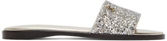 Jimmy Choo Silver Minea Flat Sandals
