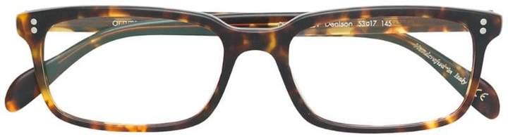 Oliver Peoples tortoise shell square shape glasses