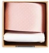 The Tie Bar Dot Silk Tie & Cotton Pocket Square Style Box