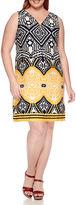 MSK Sleeveless Zipper Front Sheath Dress - Plus