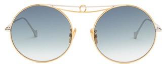 Loewe Round Metal Sunglasses - Gold