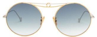 Loewe Round Metal Sunglasses - Womens - Gold