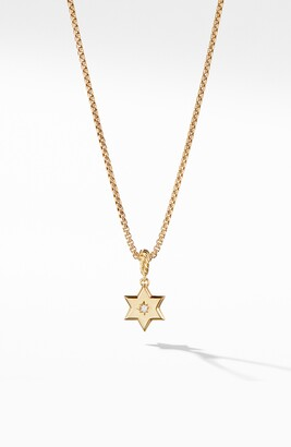 David Yurman Star of David Pendant in 18K Yellow Gold with Diamonds