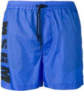 MSGM logo print running shorts - men - Polyamide - 46