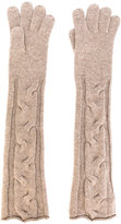 Loro Piana cable knit long gloves - women - Cashmere - S