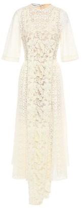 Stella McCartney Draped Embellished Lace Midi Dress