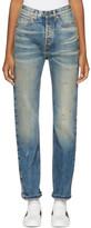 Gucci Blue Butterfly Appliqué Jeans