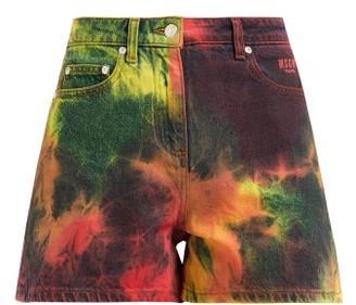 MSGM Tie-dye Denim Shorts - Multi