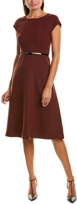 Max Mara Rosanna Wool-Blend A-Line Dress