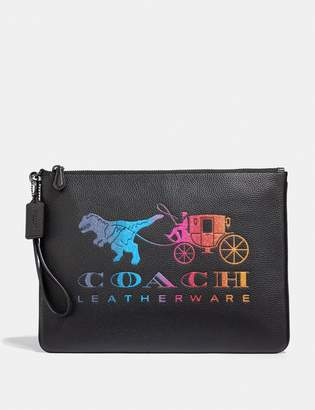 Coach Large Wristlet 30 With Rexy And Carriage