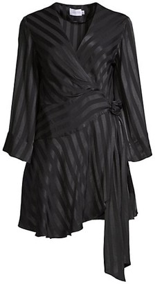 Significant Other Serenity Wrap Contrast Satin Dress