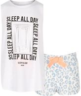 River Island Girls blue print pajama set