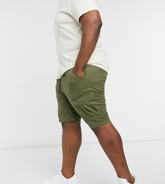 Another Influence Plus cargo utility shorts in khaki