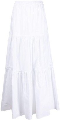 Semi-Couture Felicie tiered full skirt