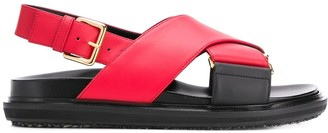 Marni Fussbett cross-over strap sandals