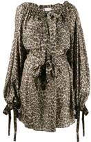Zimmermann short leopard print dress