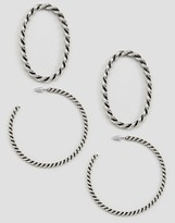 Asos Pack of 2 Twist Large Hoop Earrings