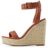 Charlotte Russe Braided Two-Piece Espadrille Wedge Sandals