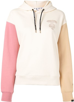 AAPE BY *A BATHING APE® Colour-Block Sequin Logo Hoodie